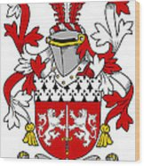 Mccorcoran Coat Of Arms Irish Wood Print