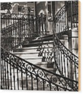 Mccormick Mansion Staircase Wood Print