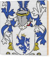Mccrery Coat Of Arms Irish Wood Print