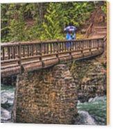 Mcdonald Creek Bridge Wood Print