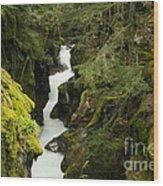 Mcdonald Creek Cateracts Wood Print