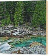 Mcdonald Creek In Glacier National Park Wood Print