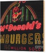Mcdonalds Sign Wood Print