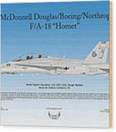 Mcdonnell Douglas Boeing Northrop Fa-18 Hornet Wood Print