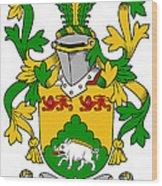 Mcdonogh Coat Of Arms Irish Wood Print