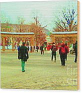 Mcgill Univ Students And Faculty College Campus Montreal Memories Collectible Art Prints C Spandau Wood Print