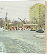 Mcgill University Campus Sherbrooke Street Scene Early Morning Winter Day Montreal Carole Spandau Wood Print