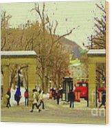 Mcgill University Roddick Gates Class Of 2013 Winter Semester Montreal Collectible Prints C Spandau Wood Print