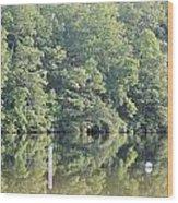 Mckamey Lake Calm Reflections Wood Print