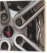 Mclaren Wheel Emblem Wood Print