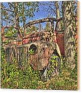 Mcleans Auto Wrecker - 1 Wood Print