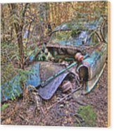 Mcleans Auto Wrecker - 10 Wood Print