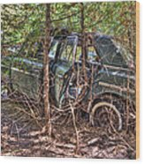 Mcleans Auto Wrecker - 14 Wood Print