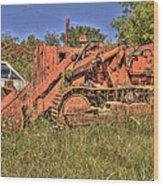 Mcleans Auto Wrecker - 17 Wood Print