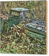 Mcleans Auto Wrecker - 5 Wood Print