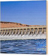 Mcnary Dam Wood Print