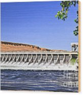 Mcnary  Hydroelectric Dam Wood Print by Robert Bales