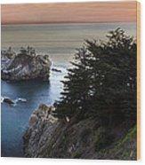 Mcway Falls Sunset Wood Print