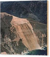 Aerial Of Mcway Landslide Big Sur California 1984 Wood Print