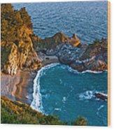 Mcway Waterfall. Big Sur Wood Print