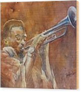 Me And My Trumpet Wood Print