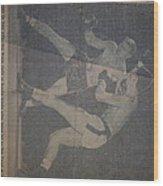 Me Fighting Bill Waits 1954 Wood Print