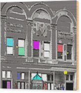 Meaders Theater 1919 Washington D.c. 1919-2010 Wood Print