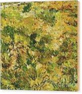 Meadow After Van Gogh Wood Print