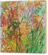 Meadow Flowers Wood Print