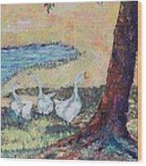 Meadow Geese - SOLD Wood Print