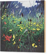 Meadow Glory Wood Print