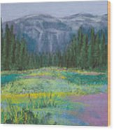 Meadow In The Cascades Wood Print