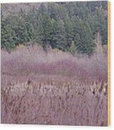 Meadow View Wood Print