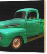 Mean Green - 48 Ford Wood Print