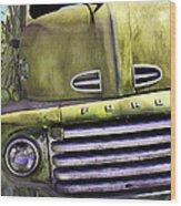 Mean Green Ford Truck Wood Print