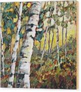 Meandering Woods Wood Print