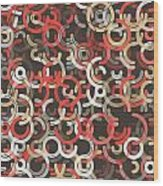 Mechanic Geometric Circle Segment Pattern Wood Print