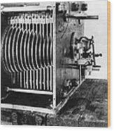 Mechanical Gear Number Sieve Wood Print by Underwood Archives