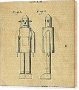 Mechanical Man Patent Wood Print