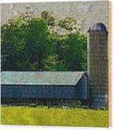 Mechanisville Md Farm Wood Print