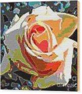 Medallion Rose Wood Print