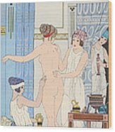 Medical Massage Wood Print by Joseph Kuhn-Regnier