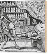 Medical Purging Wood Print