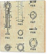 Medical Syringe Patent 1954 Wood Print