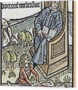 Medical Teaching, 1487 Wood Print