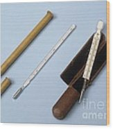 Medical Thermometers, 19th Century Wood Print