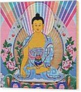 Medicine Buddha 1 Wood Print