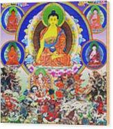 Medicine Buddha 12 Wood Print
