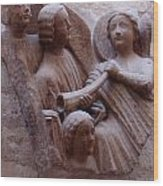 Medieval Angels Wood Print