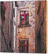 Medieval Architecture Wood Print